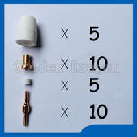 Free Shipping PT 31 LG 40 Plasma Cutting Cutter Consumables Extended TIP Nozzles Electrode Fit Cut