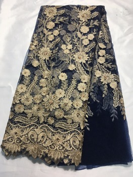 Luxury nice flower African Lace Bridal Net Lace JRB-102131 with beads Nigerian French Lace Fabric