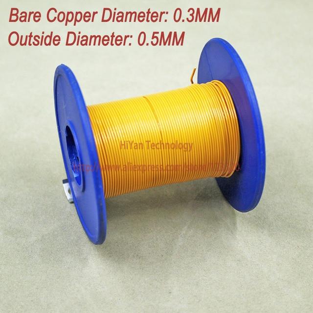 20meters/lot) Triple Insulated Copper Wire Bare Copper Diameter 0.3 ...