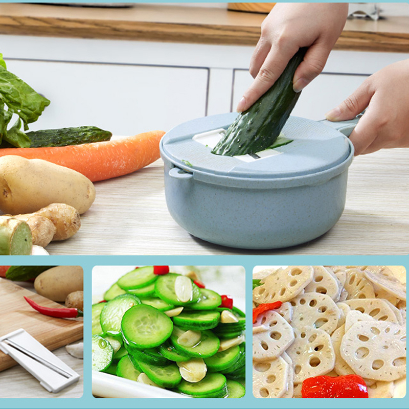 050 Multi function Vegetable Cutter with Steel Blade Mandoline Slicer Potato Peeler Carrot Cheese Grater vegetable slicer in Shredders Slicers from Home Garden