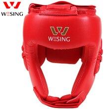 Wesing AIBA Approvati Boxe Caschetto Paratesta Arti Marziali Muay Thai Fighting caschetto di protezione Atleta Professionista Concorso casco