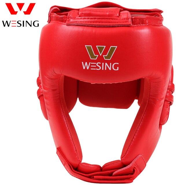 Wesing aiba aprovado boxe cabeça guarda artes marciais muay thai combate protetor de cabeça profissional atleta capacete competição