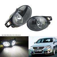 ANGRONG 1 Pair 30W Updated LED Fog Light Lamps For VW Passat 3C B6 2006 10 White 6000K L&R