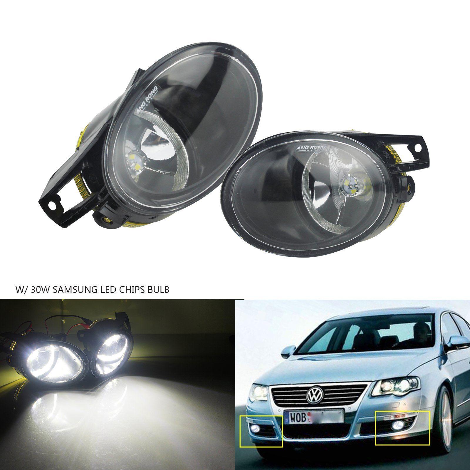 ANGRONG 1 paire 30 w Mise À Jour LED Brouillard Lumière Lampes Pour VW Passat 3C B6 2006-10 Blanc 6000 k L & R