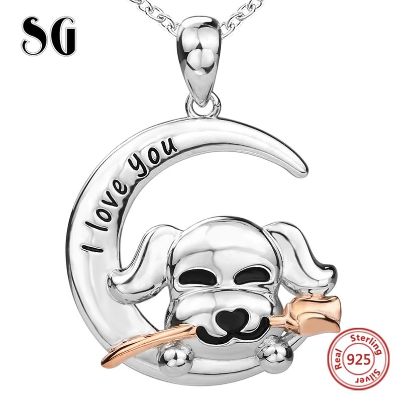 925 стерлінгових срібних троянд собака - Вишукані прикраси