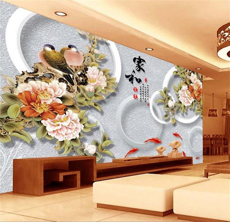 3d room photo wallpaper custom mural non-woven wall sticker flowers bird sofa TV background painting 3d wall murals wallpaper free shipping deconstruction blue bird bird personalized painting large murals mak wallpaper custom size