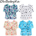 Ohbabyka Baby Bibs Waterproof Newborn Burp Cloths 2018 Brand Baby Slabbers Baby Eating and Feeding Fashion Baby Bib Long Sleeve