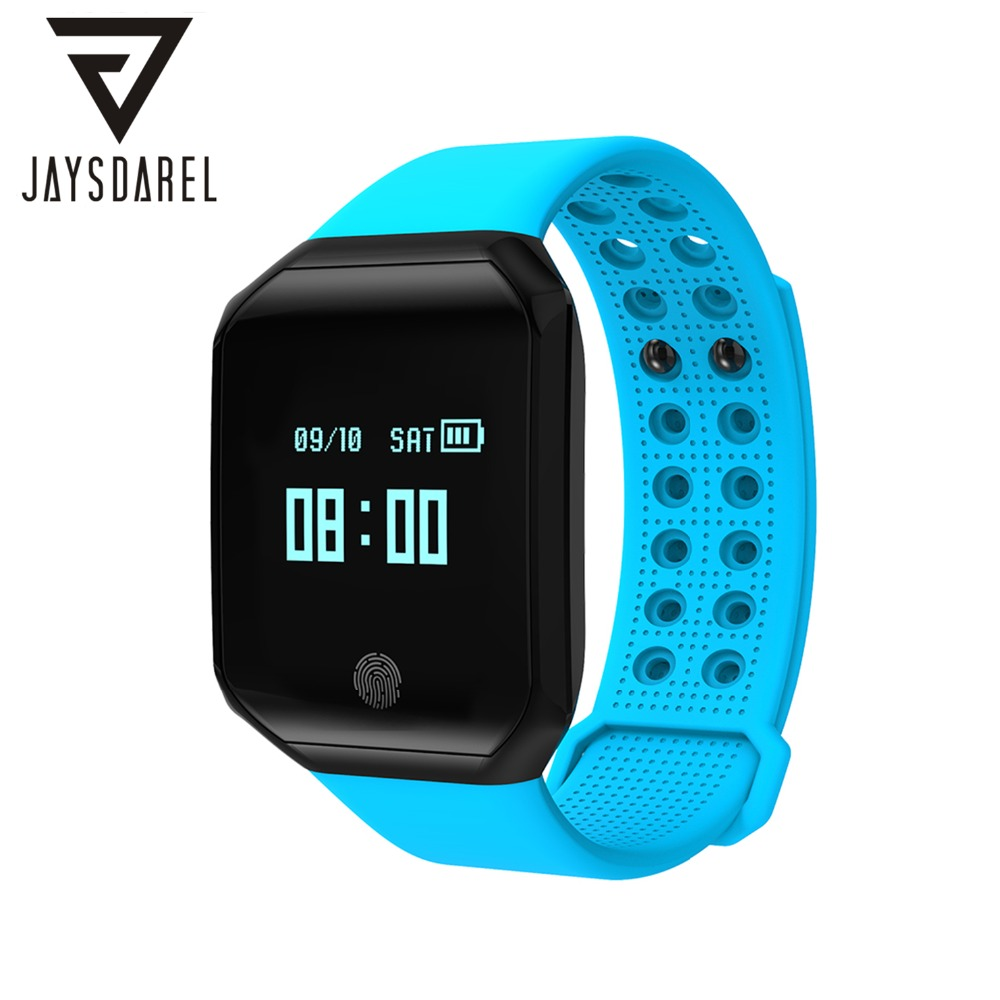 JAYSDAREL Z66 Smart Watch Heart Rate Blood Pressure Monitor OLED Bluetooth Waterproof IP67 Fitness Tracker For Android IOS candino c4618 3