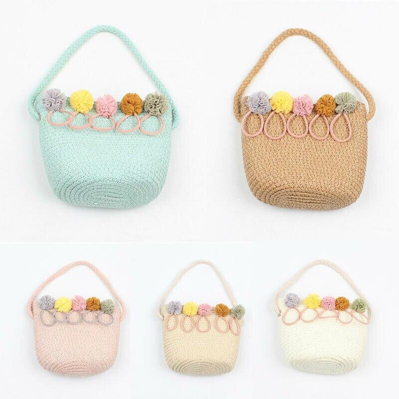 2019 New Cute Multifunctional Baby Diaper Organizer Rattan Wicker Handbag Fashion Floral Bag Mummy Storage Bag Travel Nappy Bag