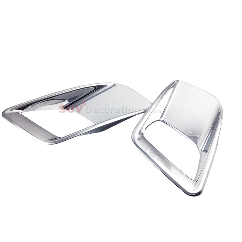 Roof Racks & Boxes Skillful Knitting And Elegant Design New Abs Plastic Rear Tail Fog Light Lamp Cover Trim 2pcs For Peugeot 3008 Gt 3008gt 2016 2017 To Be Renowned Both At Home And Abroad For Exquisite Workmanship