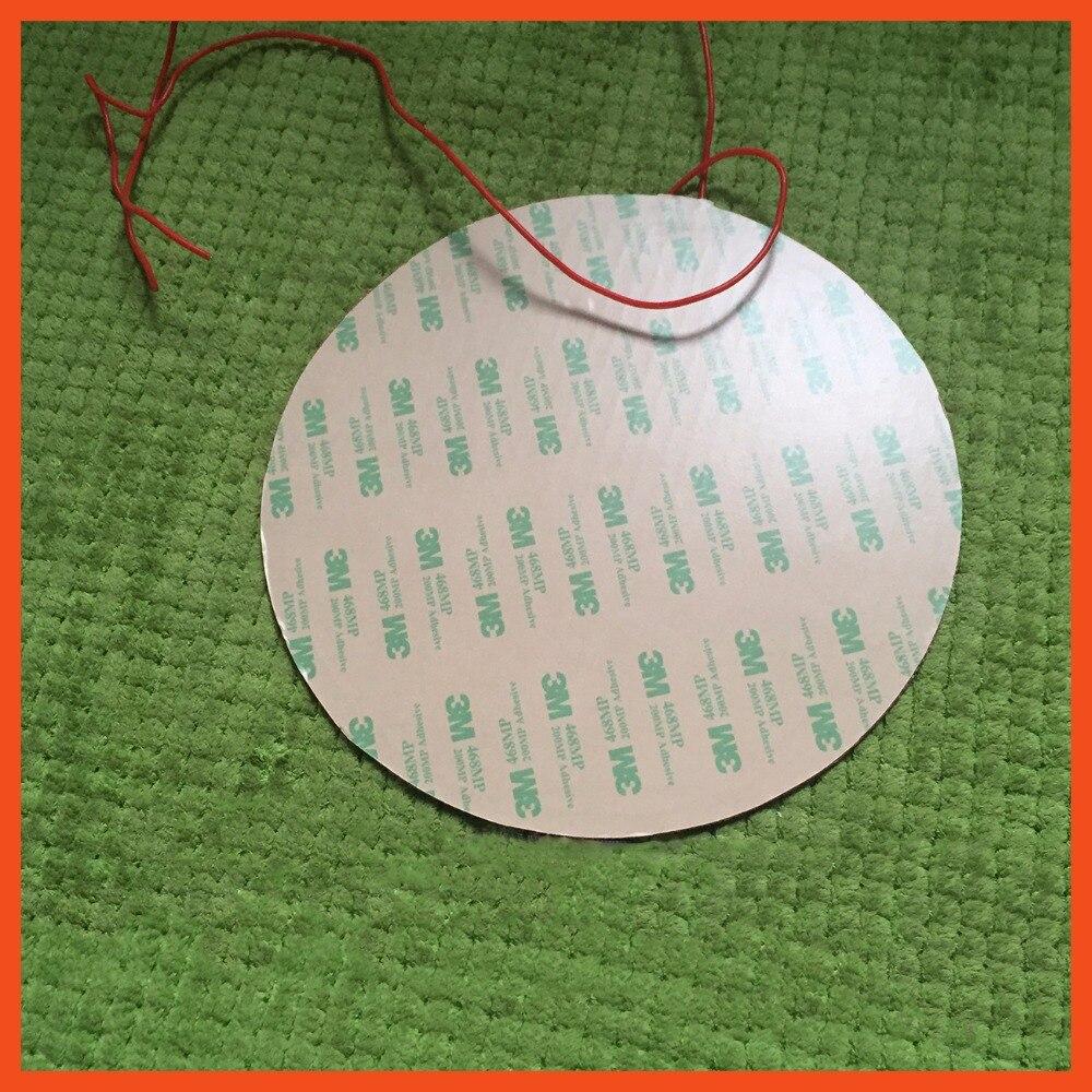 Silicone coussin chauffant chauffe 220 V 300 W Dia 350mm pour 3d imprimante circulaire chaleur lit de qualité alimentaire de silicone liquide silicone caoutchouc