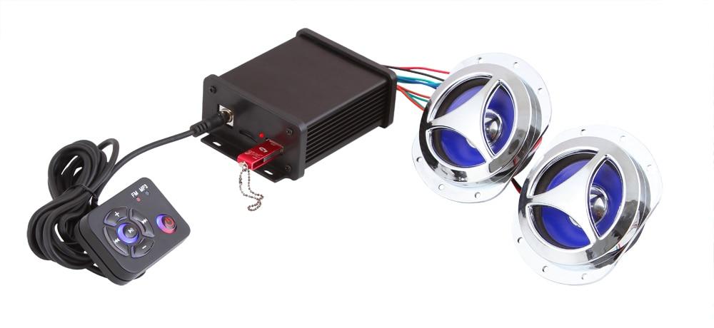 MOTOQUEEN support WAV support 4 speakers Motorcycle amplifier dirt bike mp3 player, motor vehicle FM radio audio bluetooth mp3