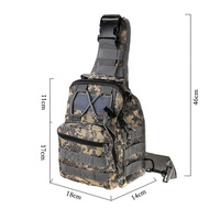 Men S 1000D Nylon Waterproof Outdoor Sport Shopping Camping Hiking Bags Messenger Bag Leisure Camouflage Tactical