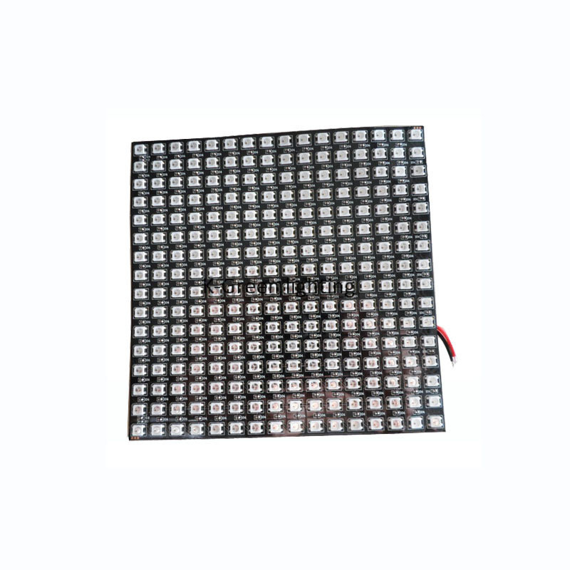 1X High quality 16*16 pixels P10 WS2812B full color led display screen dimension170*170mm with  fiber board plate free shipping коммутатор zyxel gs1100 16 gs1100 16 eu0101f