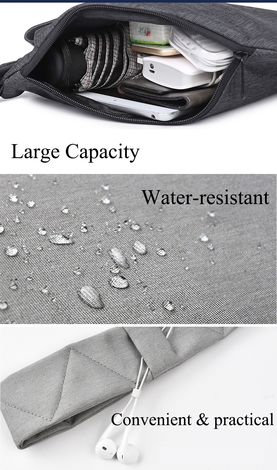 WIWU Cross-body Bag Water-proof Chest Travel Anti-theft Shoulder Bags 5