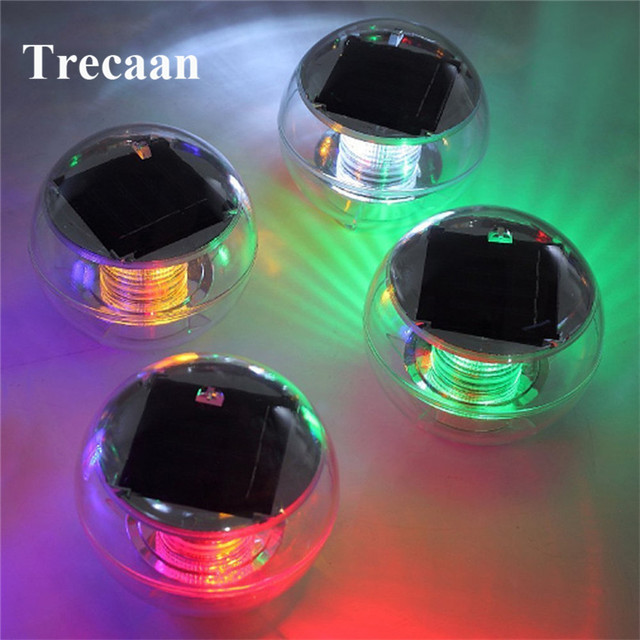 Waterproof 7 Color RGB Changing LED Floating Lights Solar Powered ...