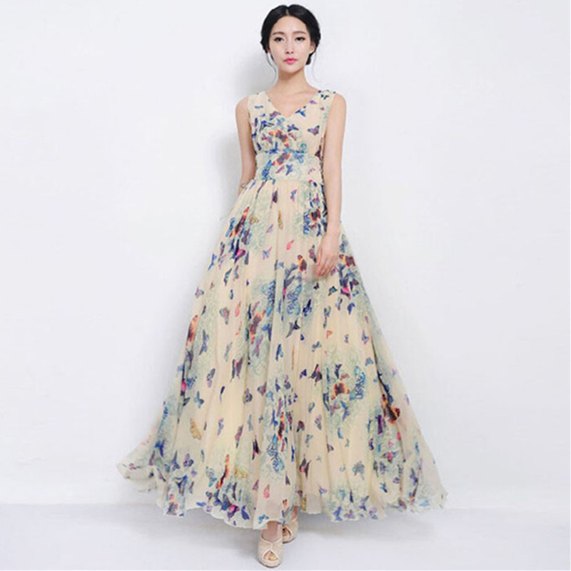 Butterfly print maxi dress online shopping-the world largest ...