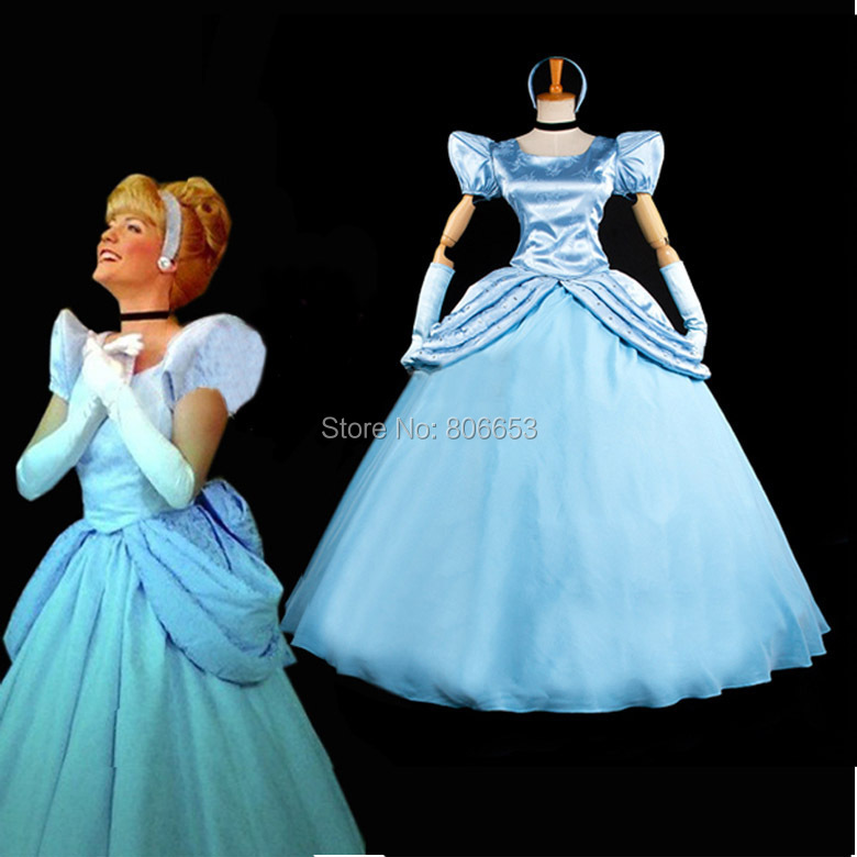 2015 Custom Made Cinderella Dress Princess Costume Adult Women's Fantasy Cosplay PS008 - Market Online store