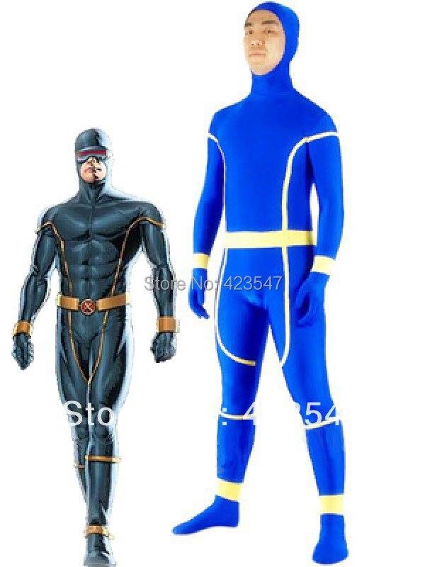 Cyclops X-Men Cyclops Spandex Superhero Costume Halloween Costumes-Zentai Suit