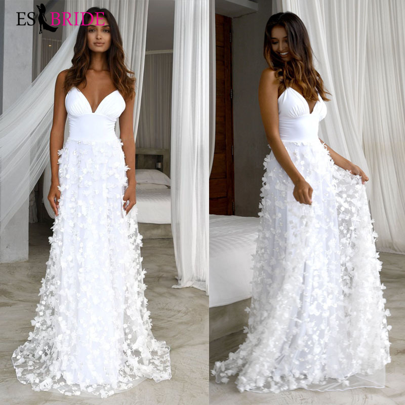 White   Evening     Dresses   Fashion Lace Appliques Arabic Deep V-neck Sexy   Evening     Dress   Party Formal Elegant   Evening   Gown ES2621
