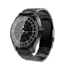 Смарт-часы DT19 фитнес-трекер роскошный полностью из нержавеющей стали Smartband Bluetooth вызов напоминание музыкальная камера для мужчин работа мужской