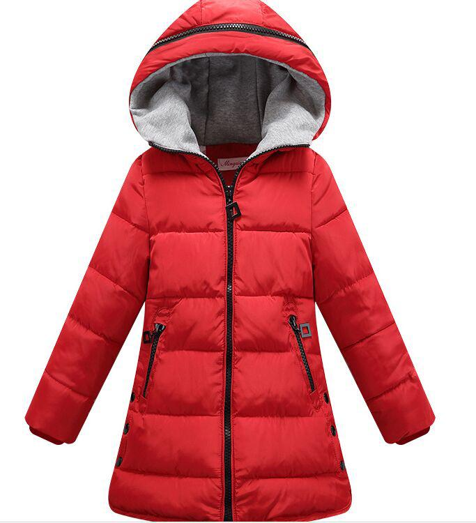girl winter jacket boy warm hooded coat 12m 5t children fashion cute clothing kid cute clothes girl new long sleeve outerwear 2017 Winter Girls Hooded Coat Kid Warm Coat Snow Jacket Girl Long Sleeve School Cute WindProof Coat Children's Outerwear 13 14 T