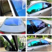 1,52x30 м рулон 55% VLT Хамелеон автомобиля переднее окно пленка Высокая УФ-отражающие Солнечный оттенок автомобиля Stying Солнечный Оттенок 60''x100ft
