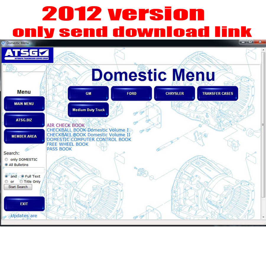 hight resolution of 2017 atsg automatic transmissions service group repair information repair manual diagnostics software for multi brands cars in software from automobiles