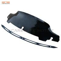 4 5 Dark Smoke Motorcycle Windscreen Edge Cut Windshield Trim Case For Harley Touring Electra Street
