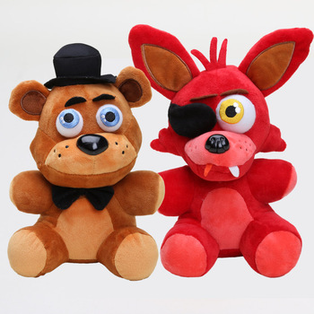 25cm FNAF Plush Doll Freddy Bear Foxy Chica Bonnie stuffed Plush Toys Kid Children Dolls Kids toy 2
