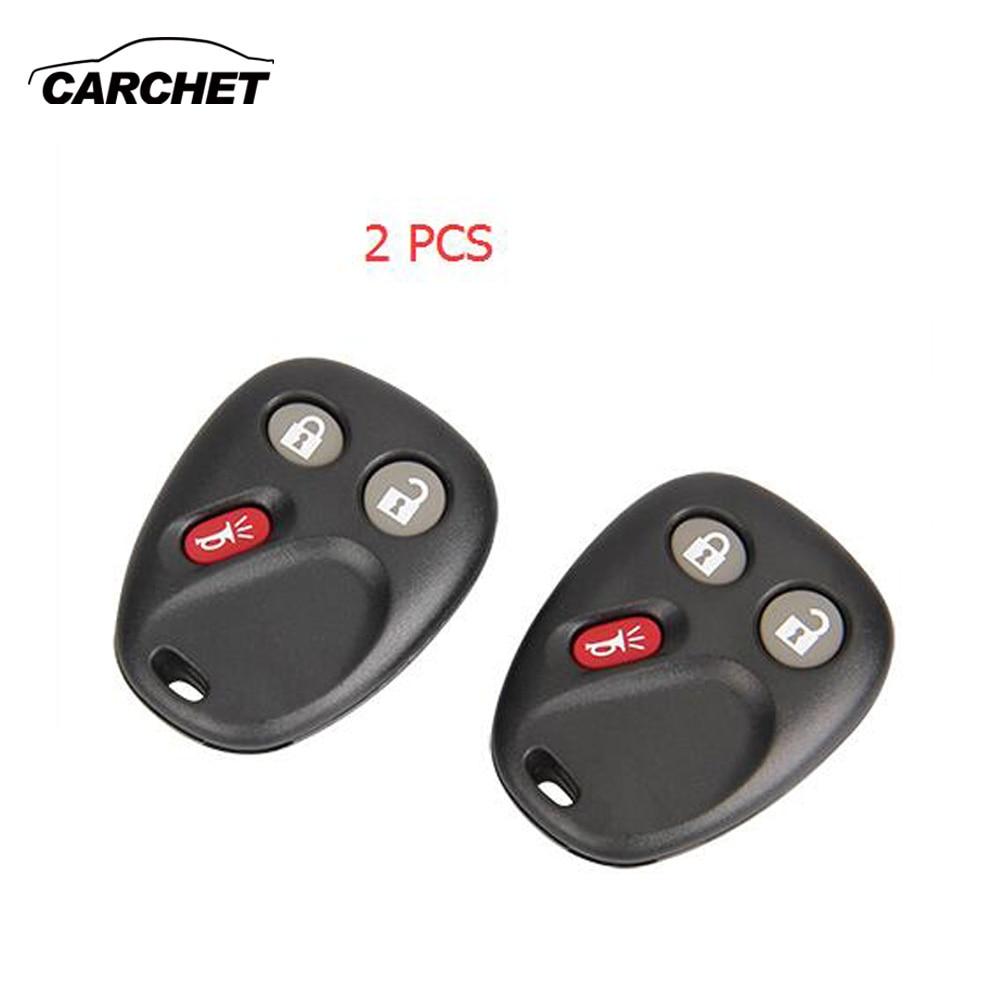 Carchet keyless entry remote key fob for tahoe silverado yukon sierra h2 lhj011 car key case