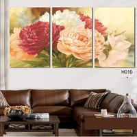 3 Panels Wall Art Modern Rose Flower Wall Painting Decorate Wedding Room Wall Pictures Painting By