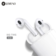 LOVESO i9S TWS Bluetooth 5.0 Wireless Earphones Mini Music Stereo Bass Headphone Sport Earbuds Headset For iPhone Huawei Xiaomi
