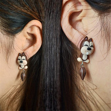COOL Style Personalized 100 handmade polymer clay accessories earring earrings women cartoon squirrel stud fashion earrings
