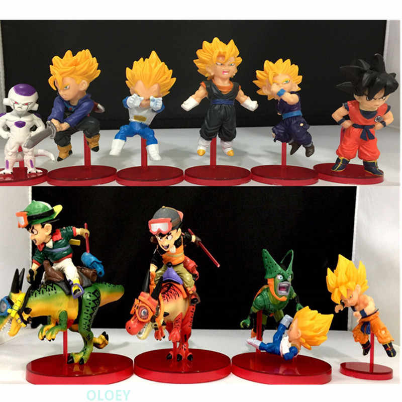 9 Pcs/set Dragon Ball Son Goku WCF PVC Action Figure Collectible Model Toy 8-11Cm BOX X51