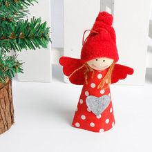 Christmas Tree Decoration Snowman Angel Ornament Holiday Small Gift Dolls Red *natal navidad *30 2017 hot sale(China)