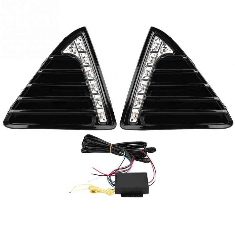 1 Pair Car Daytime Running Light Turn Signal Dual Model DRL <font><b>LED</b></font> Lights for <font><b>Ford</b></font> <font><b>Focus</b></font> <font><b>MK3</b></font> 2012-2014 Left & Right New image