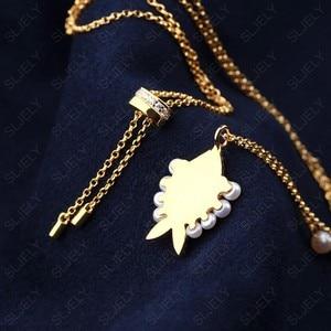 Image 4 - SLJELY collier en argent Sterling 925 pour femmes, pendentif en argent Sterling, couleur or jaune, perle aux yeux porte bonheur, chaîne ajustable, juin
