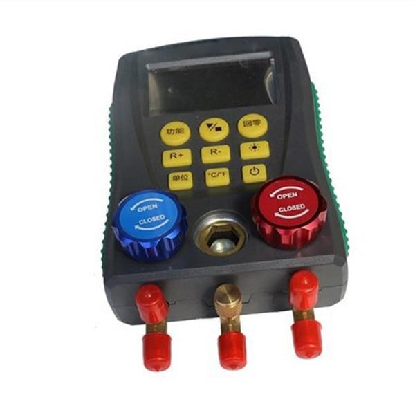 Digital Manifold Gauge Refrigeration Pressure Tester HAVC 2-Way Valve Tool LB88 wk vg88 conditioner refrigeration single manifold vacuum gauge manifold gauge tool electrical pressure digital gauge manifold