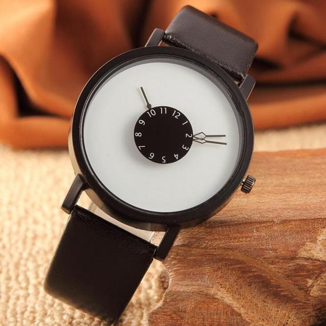 Hot fashion creative watches women men quartz-watch 2017 BGG brand unique dial d