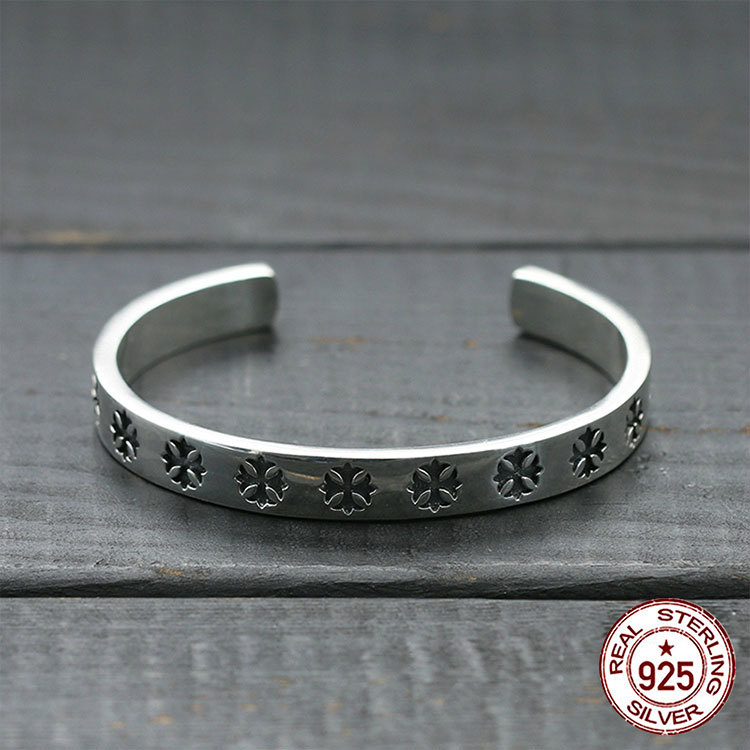 100% S925 sterling silver men's bracelet personality fashion classic punk style letters cross forever shape 2018 new send gift new arrival 22 11cm 15 style 15pcs elegant diy writting envelope love letter supplies classic design letters pad