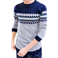 Knitted Men Basic Sweater O neck Long Sleeve mens sweaters Printing pullover male autumn spring slim knitwear dress Pull Homme