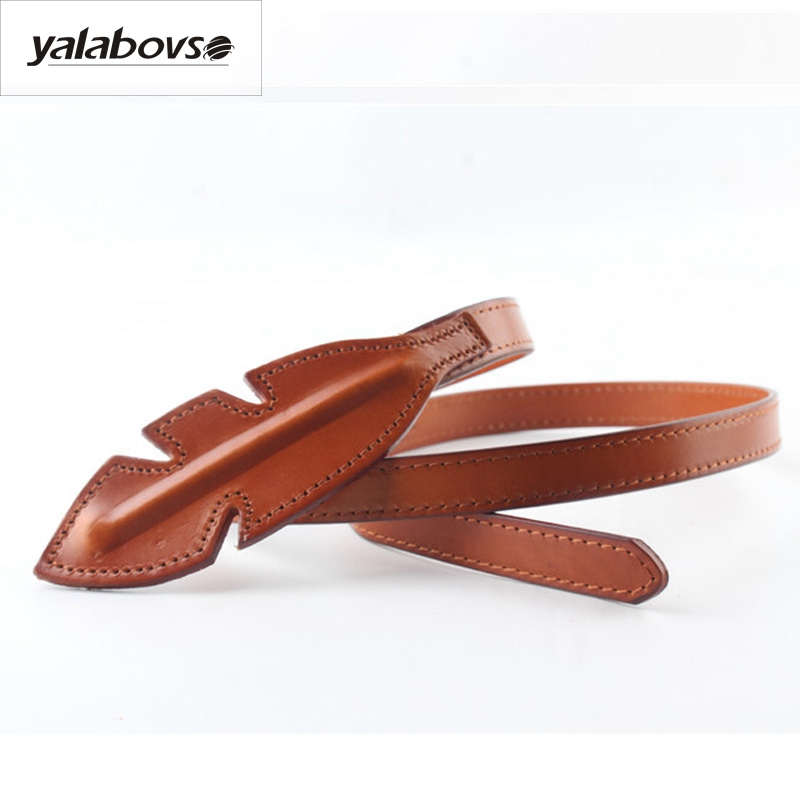 Yalabovso 2017 New Styles Women's Strap All-match Women Brief Slim Dresses's Belt Cowskin Sealing Belt For Woman Dress 's Z20