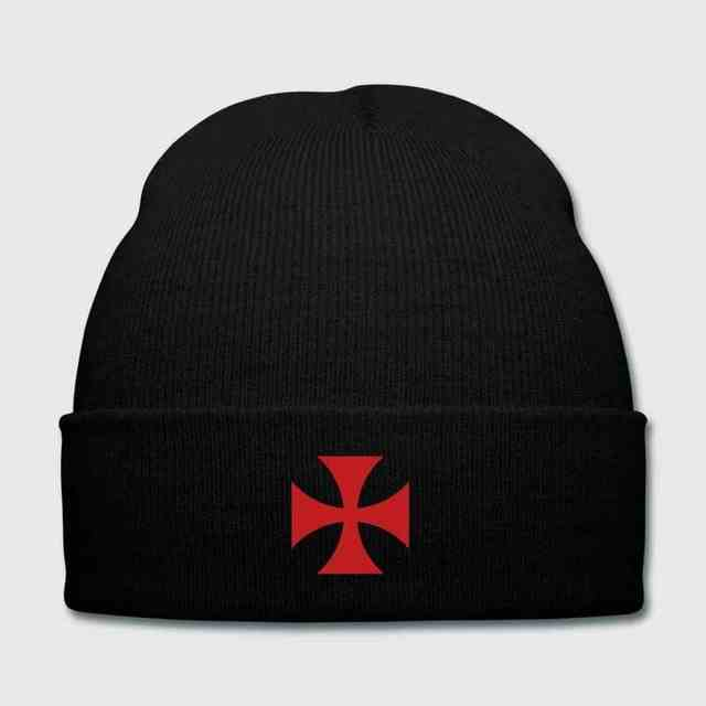 5af82e81e838a Detail Feedback Questions about Men's / Women's Templar Custom Handmade  Embroidery Iron Cross Rocker knight soldier Knit Cap with Cuff Skull Beanie  Cap on ...