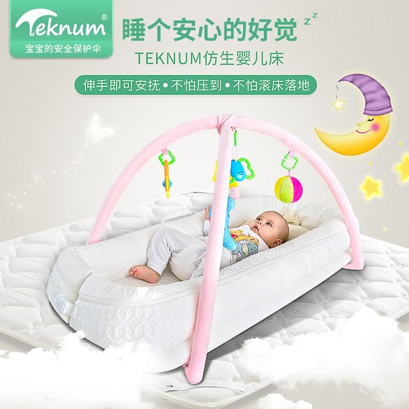 Teknum Crib, Newborns, Multi-function Portable Bed, Bionic Baby Game Bed