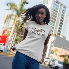 Shih Tzu Dog T-Shirt Four T Shirt XXL Cotton Women tshirt Silver Print O Neck Casual Funny Ladies Tee