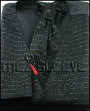 wholesale free shipping Men's Suit Tuxedo Dress black Vest 4pcs