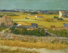 The Harvest by Vincent Van Gogh Handpainted