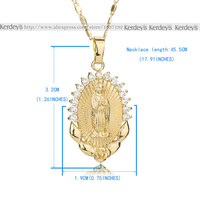 OUMEILY Fashion Jesus Necklace For Women Men Statement Vintage Pendant Holiday Christian African Beads Gold Color Accessories 5