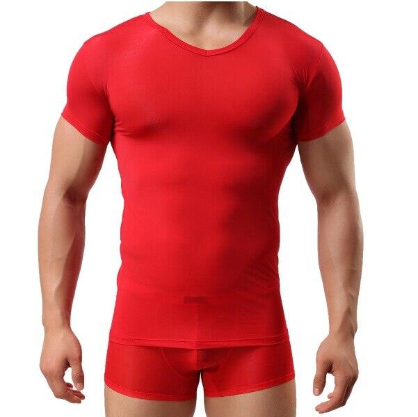 Uomini V Cool Sottile Super Muscolosi Casuale Summer Degli Fitness jRL54A